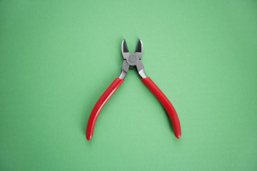 Work tool over colored background