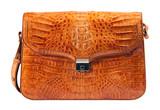 Genuine crocodile leather briefcase poster