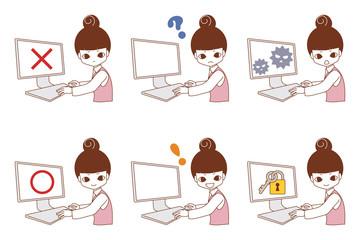 パソコントラブル 女性