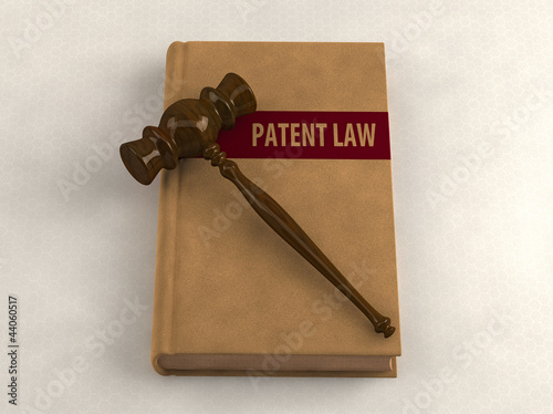 Gavel on a patent law book
