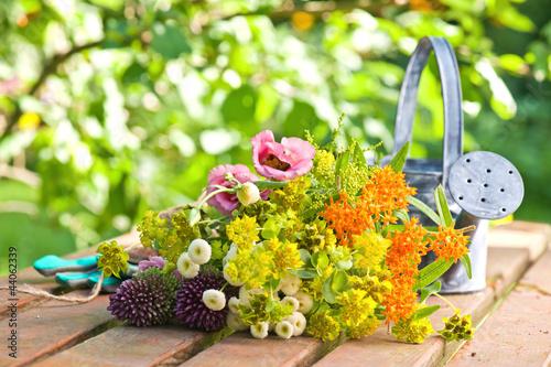 canvas print picture Blumen aus dem Garten