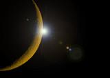 Lune et halo poster