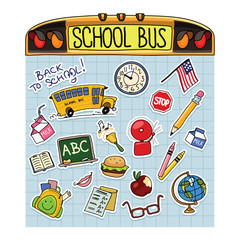 Back to School Vector Illustration Set