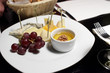 Cheese and grapes