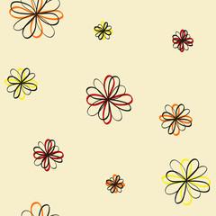 Flowers vector seamless pattern