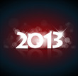 Vector New Year card 2013