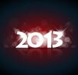 Vector New Year card 2013
