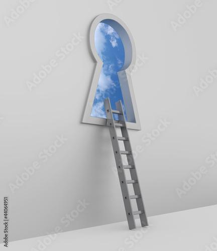 Schlüsselloch Leiter
