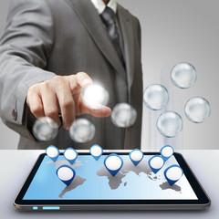 business success diagram glass icon