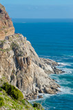 Beautiful mountain road, landscape, cliffs and sea. South Africa