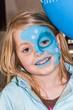 Quadro Mädchen - blau geschminkt