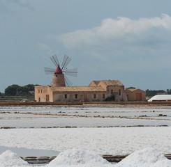 La raccolta del sale e il mulino, Marsala