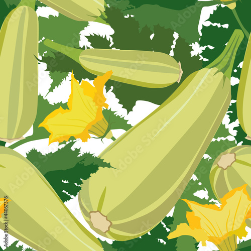 seamless pattern with vegetable marrow