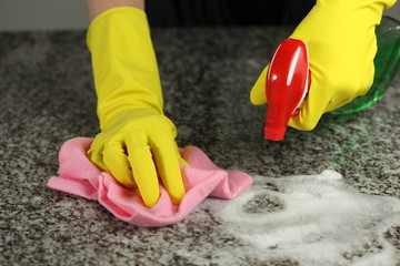 Spraying countertop