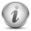 Information Button Silber