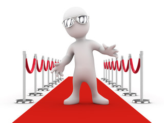 3d Celebrity on the red carpet