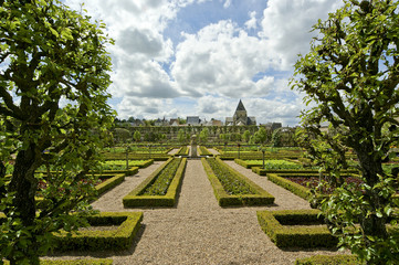 Villandry chateau and its garden, Loire Valley, France ---one of