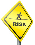 risk ahead warning sign