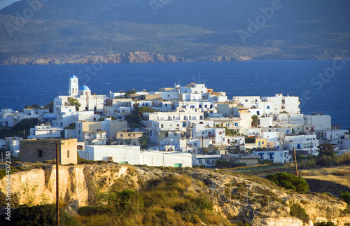 panoramic Adamas Plaka typical Greek island Cyclades architectur