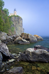 Split Rock Lighthouse, Mist