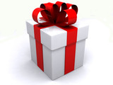 gift box over white background
