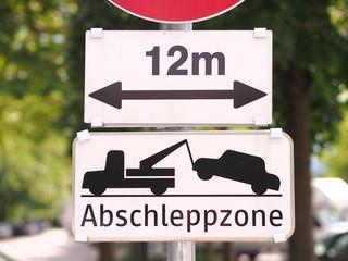 Abschleppzone