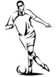 soccer player vector outline