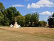 Leinwanddruck Bild - camp site