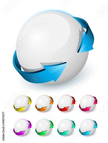 Sphère logo flèches