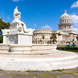 View of Havana with the famous Capitol building on a summer day