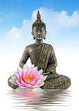 Bouddha zen - 44074598