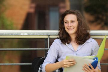 Student at school