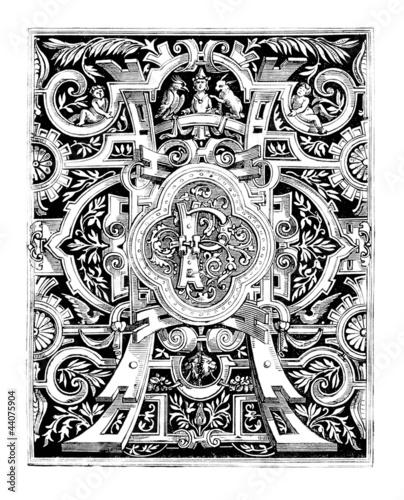 Lettrine : P - medieval Style