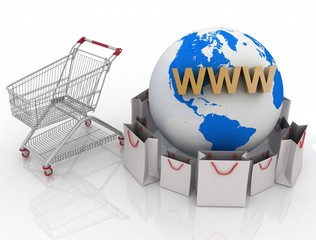3d shopping on Earth in Internet