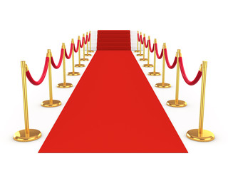 3d Red Carpet with gold ballustrades