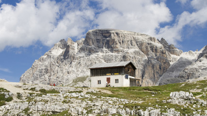 Shelter in the Dolomites