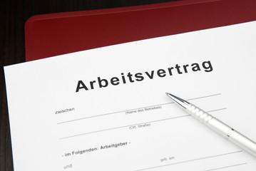 Arbeitsvertrag Dokument Vorlage