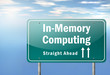 "Highway Signpost ""In-Memory Computing"""