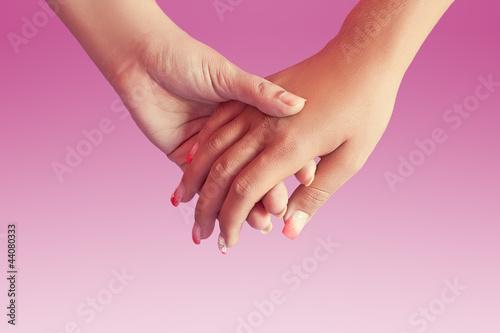 Lesbian hands