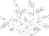 Vector flower design, floral ornament, plant pattern