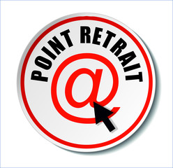 "Badge "" Point retrait internet """
