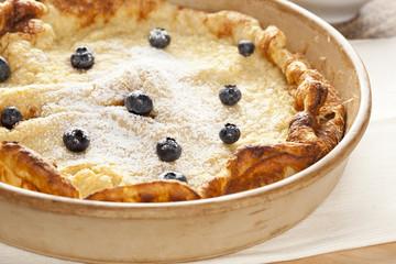 Homemade German Pancake with blueberries