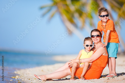 Beautiful family on a beach