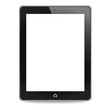 Tablet computer on white background