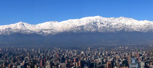 Panorama Santiago de Chile mit Anden