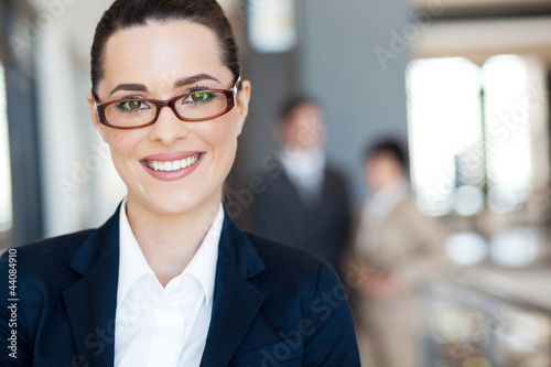 smart young businesswoman closeup portrait
