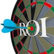 ROI Return on Investment Dartboard Targeting Wealth