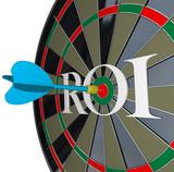 ROI Return on Investment Dartboard Targeting Wealth poster