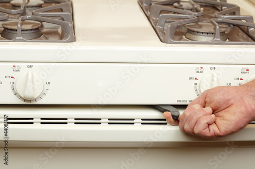 Turning on Self Cleaning Stove