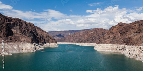 Hoover Dam, between Arizona and Nevada
